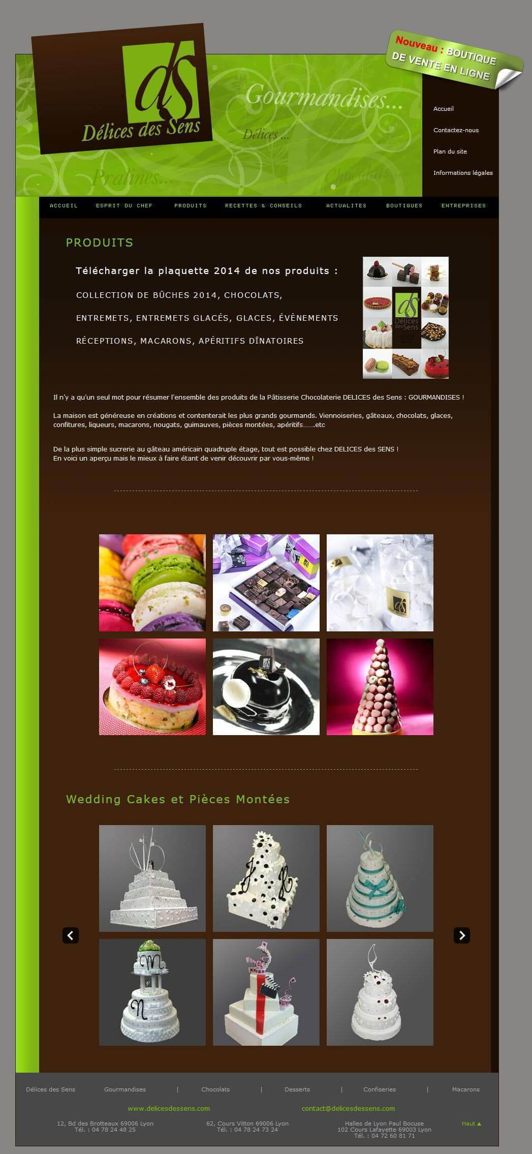 Création site internet chocolaterie LYON 2