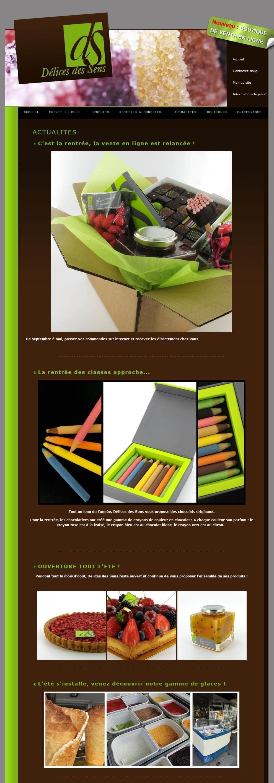 Création site internet chocolaterie LYON 3