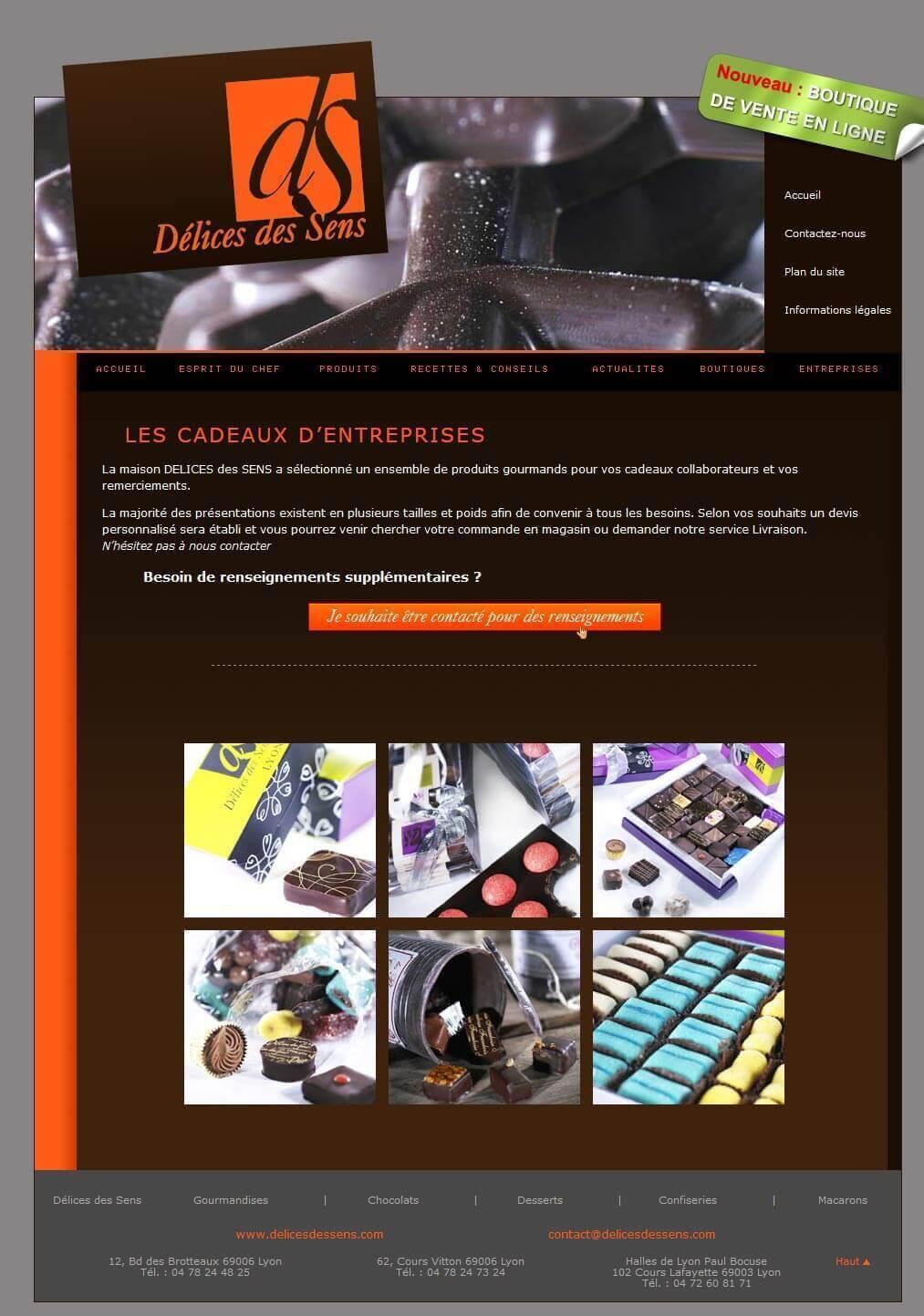Création site internet chocolaterie LYON 4