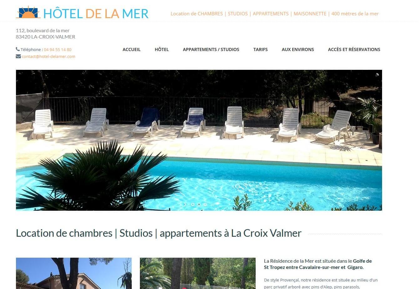 Création site internet Croix Valmer hôtel résidence b