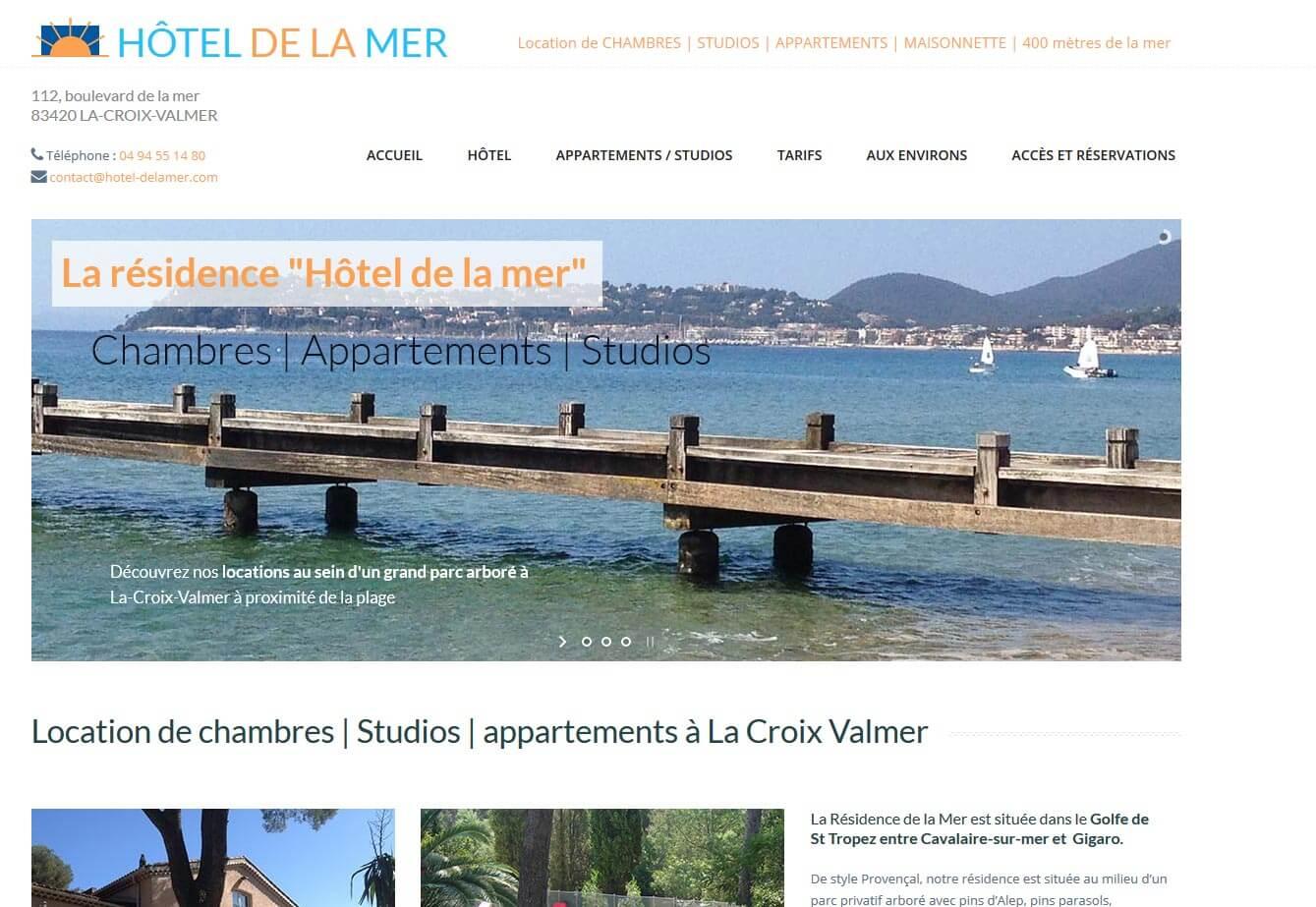 Création site internet Croix Valmer hôtel résidence