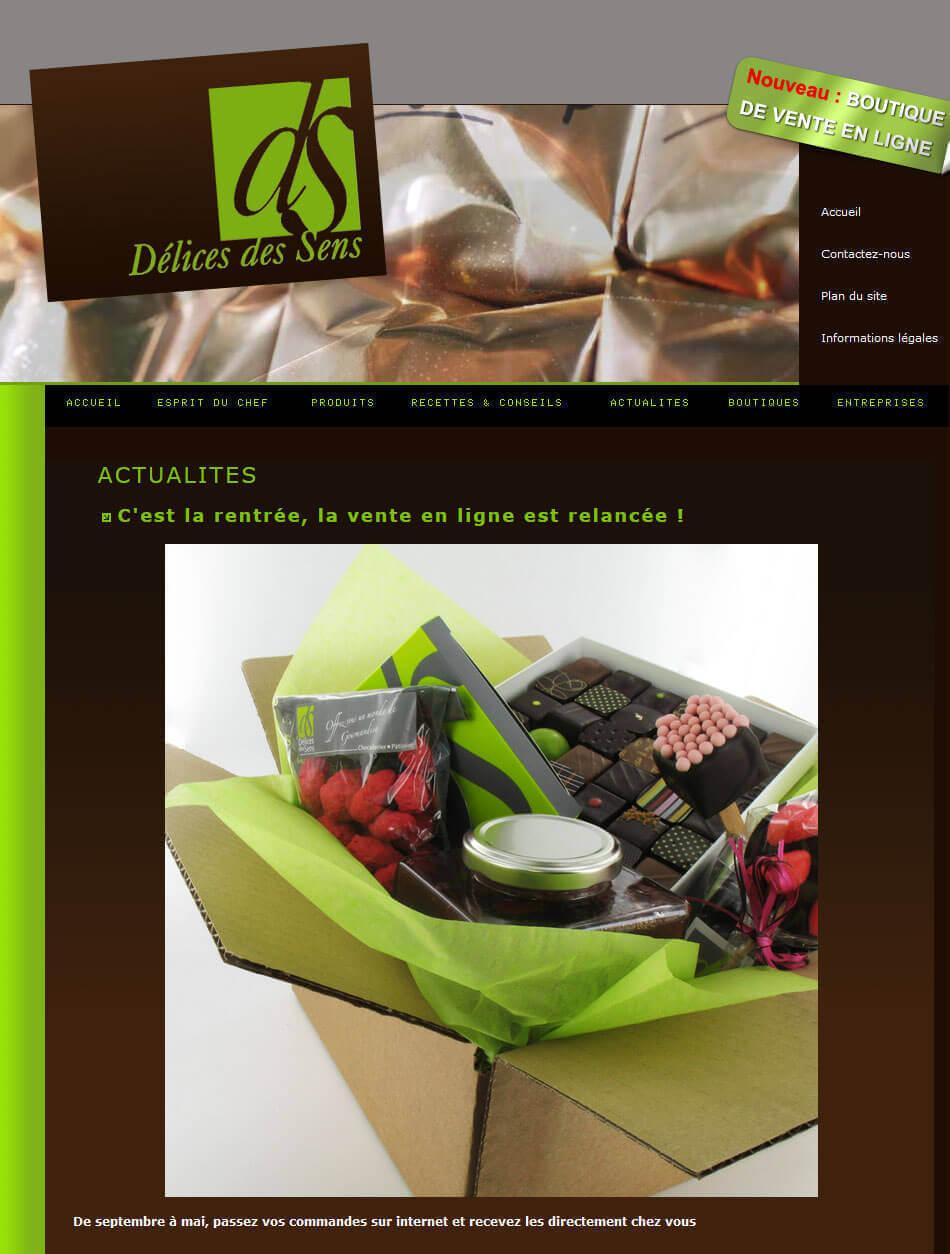 Création site internet catalogue patisserie LYON