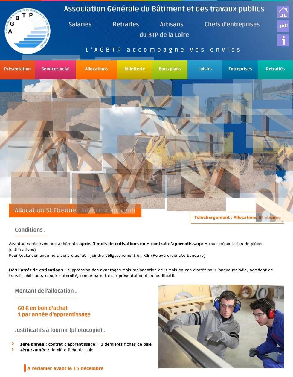 Création site internet institutionnel AGBTP