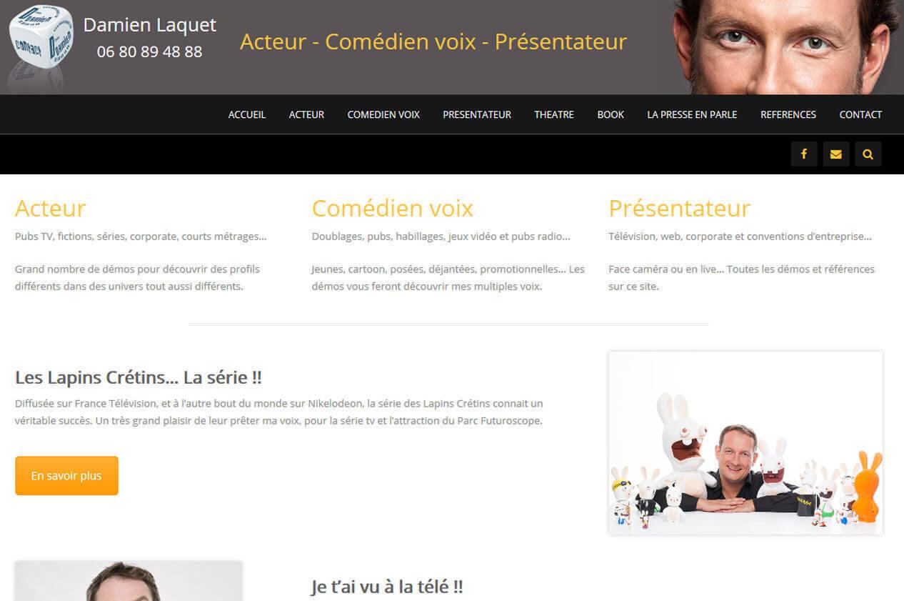 Création site internet LYON Damien LAQUET I Acteur Comédien voix 2