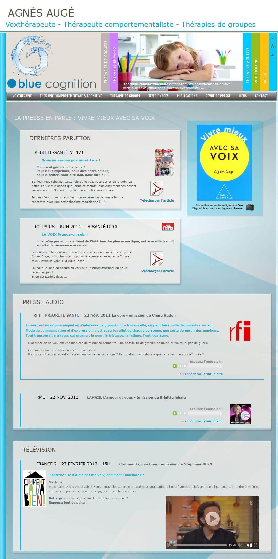 Création site internet LYON Agnès Augé thérapie ttc