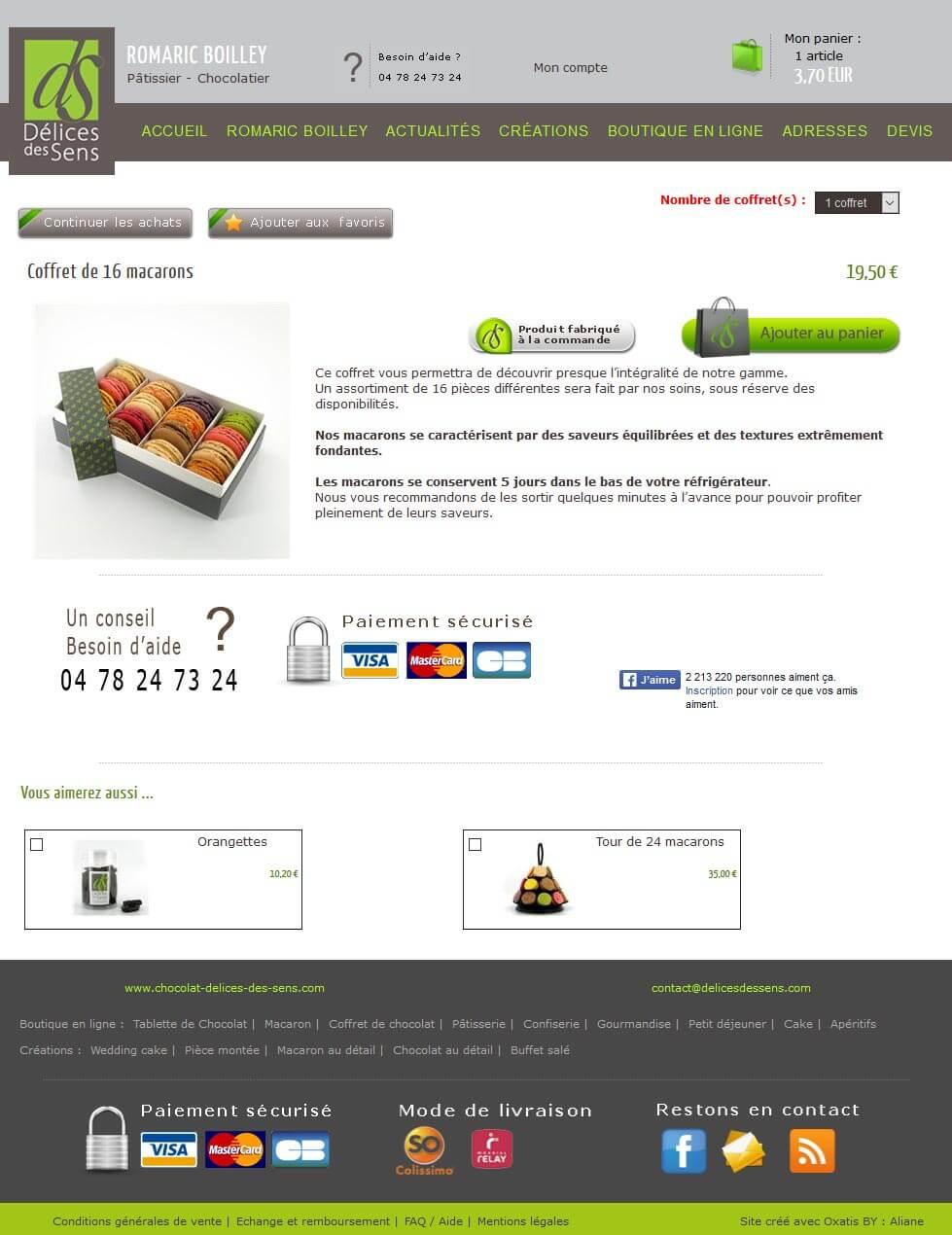Création site e commerce OXATIS vente en ligne Lyon 4