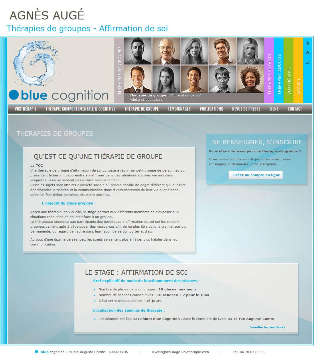 Création site internet LYON thérapie affirmation soi