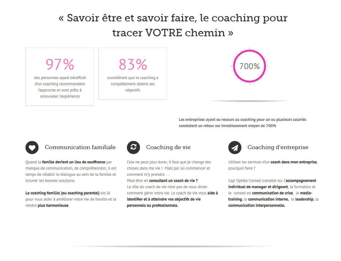 Création site internet LYON vitrine I coaching de vie coach LYON