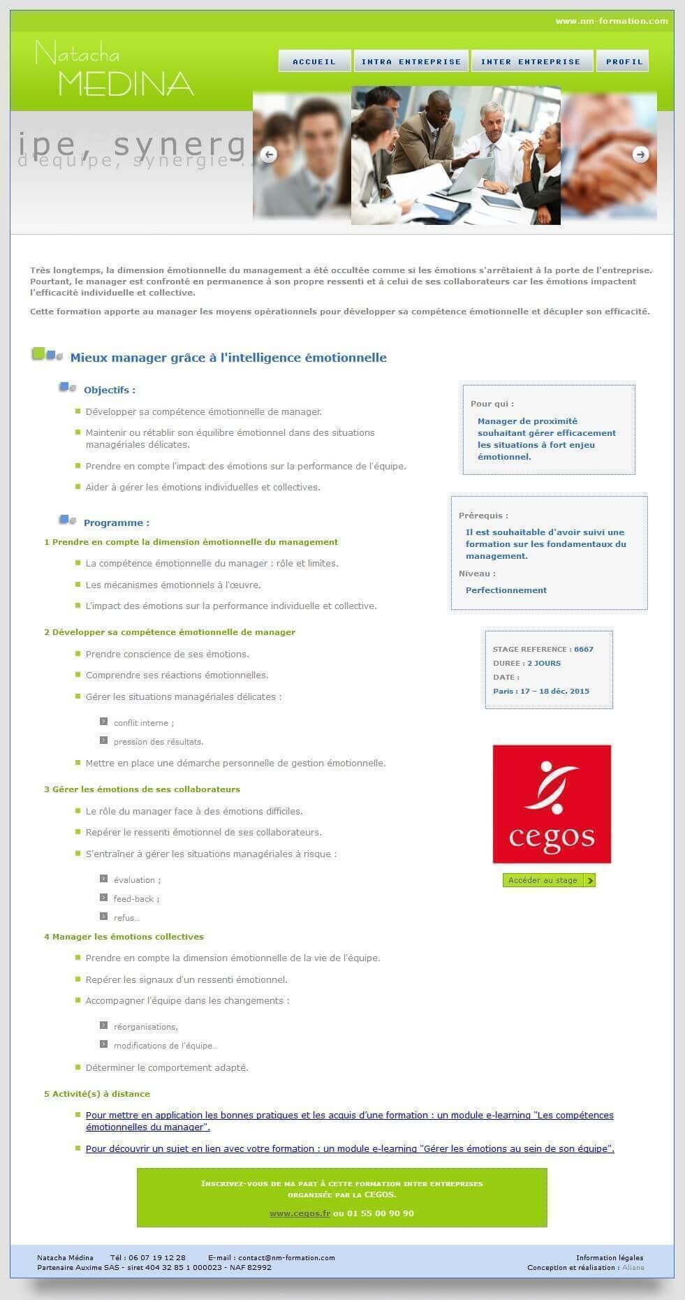 Création site internet Coach Lyon 2