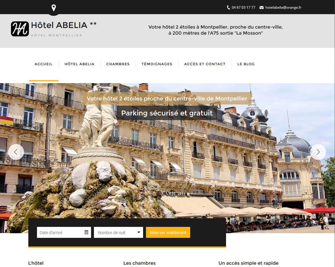 Création site internet Montpellier hôtel ABELIA