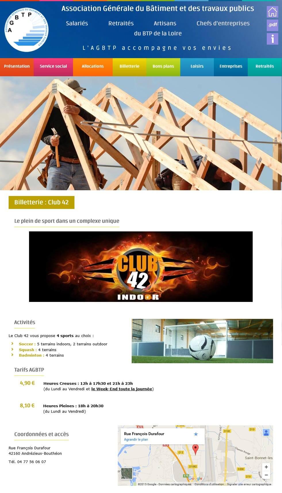 Création site internet vitrine AGBTP eiffage