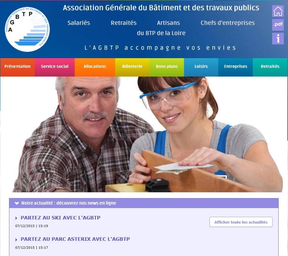 Création site internet vitrine home AGBTP eiffage