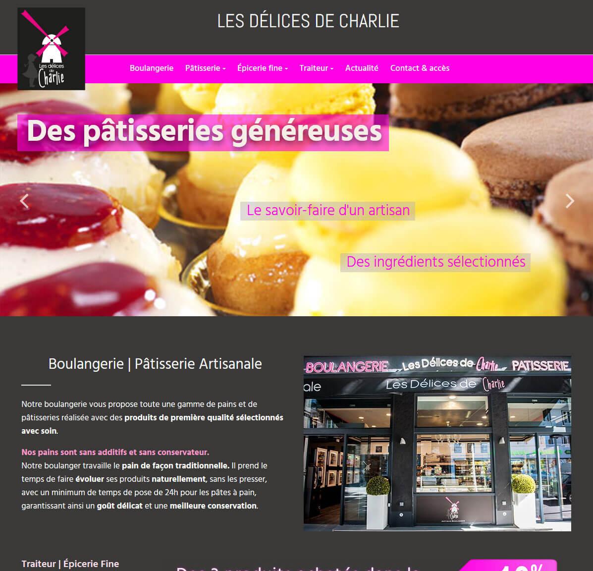 Création site internet vitrine LYON Boulangerie Délices de Charlie