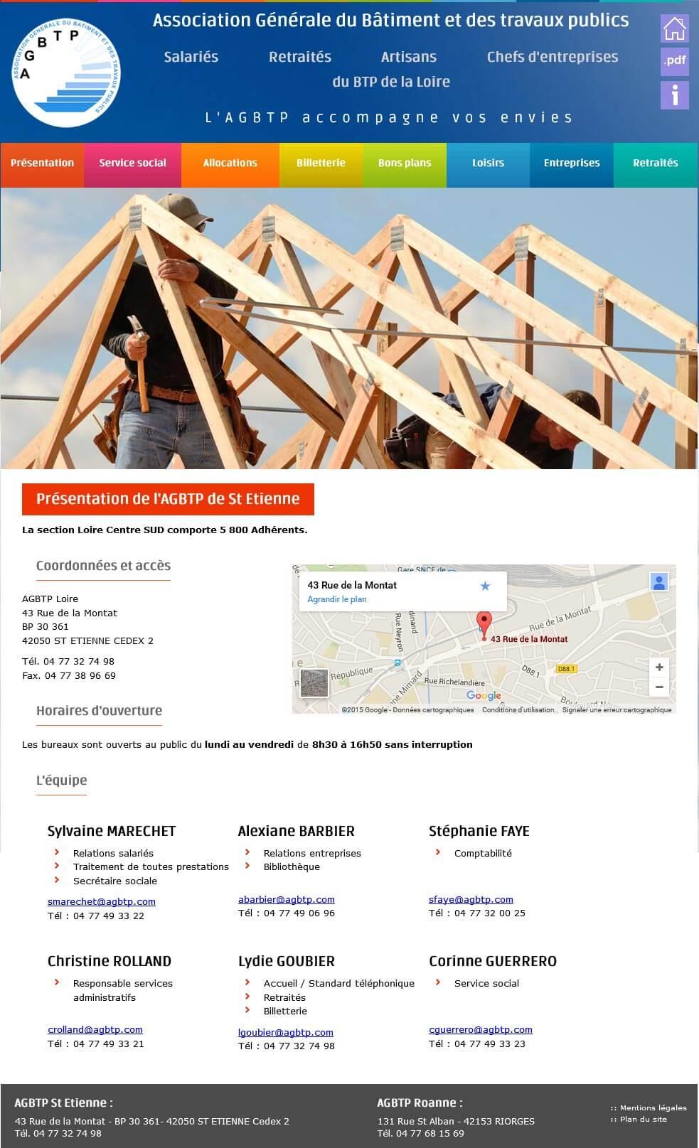 Création site internet vitrine St Etienne groupe Eiffage