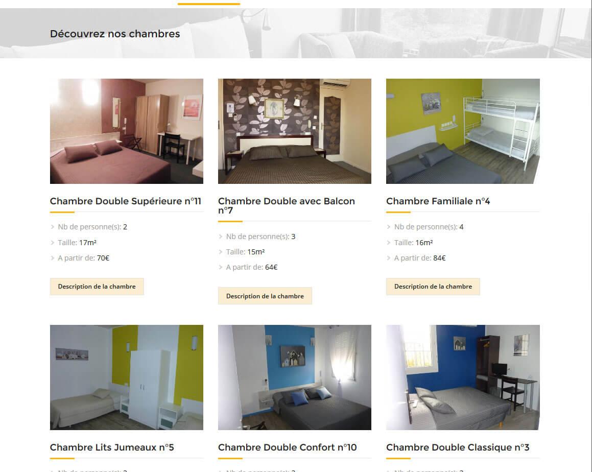 Création site internet WordPress hôtel ABELIA