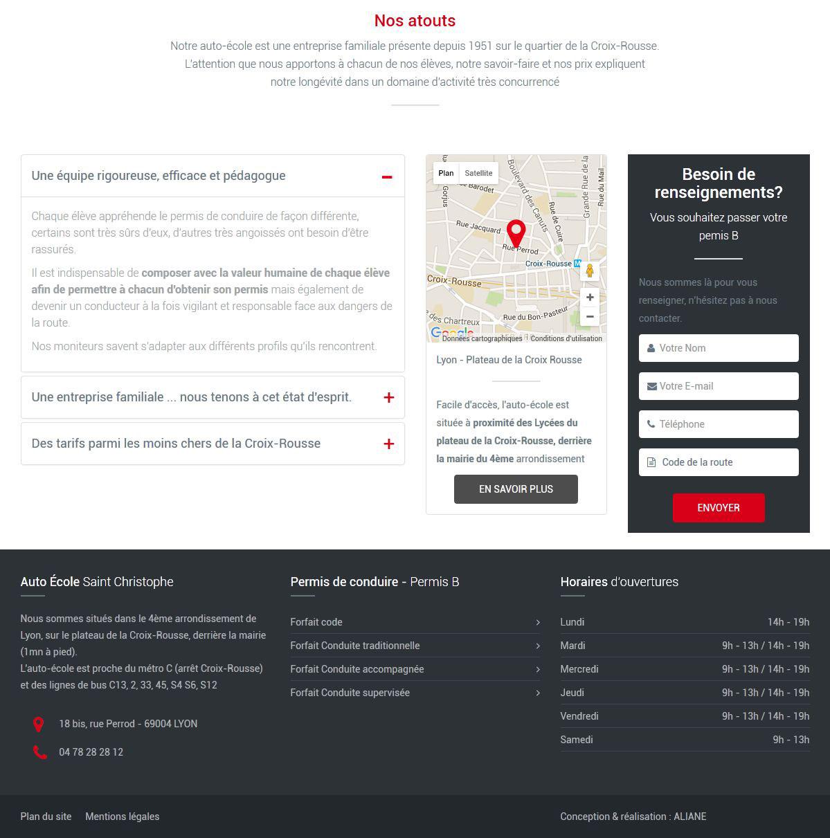 Création site internet auto école Lyon Croix Rousse