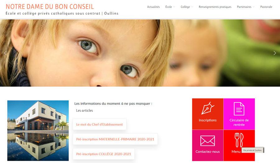 Conception et realisation site internet-Oullins-ecole et college La camille 2019